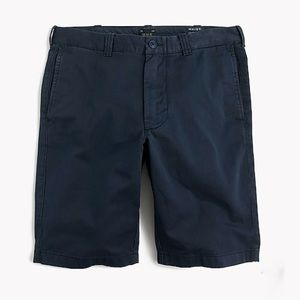 J crew cove blue 10.5 inch garment dyed shorts